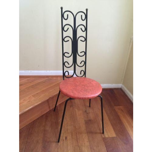 Salterini Style MCM Vintage Wrought Iron Chair - Image 2 of 6