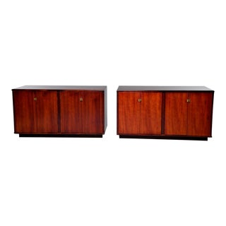 Mid-Century Italian Rosewood Cabinets With Ebony Detailing - a Pair For Sale