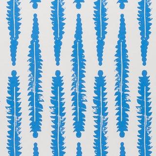 Schumacher x Molly Mahon Fern Wallpaper in Blue For Sale