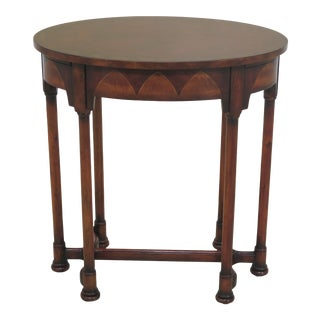 Traditional Theodore Alexander Stretcher Base 1 Drawer Occasional Table For Sale