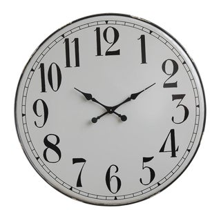 Round Metal Wall Clock For Sale
