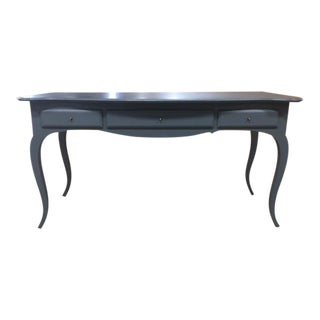 Blue Wooden Console Table