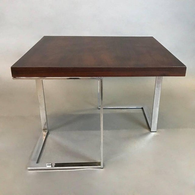 Mid-Century Modern 1960s Mid-Century Modern Rosewood and Chrome Coffee or Side Table For Sale - Image 3 of 6