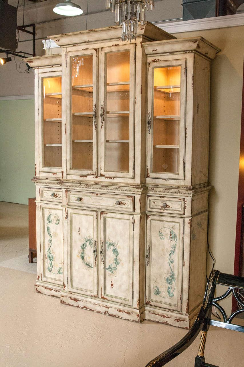 Neoclassical Two Piece China Cabinet   Image 9 Of 11