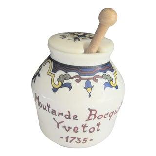 1970s Vintage French Mustard Jar For Sale