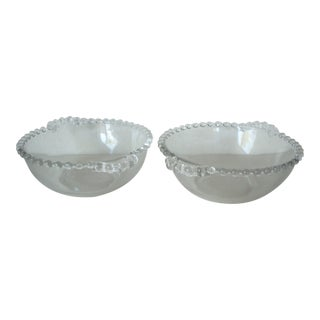 1950s Candlewick Small Bowls - a Pair For Sale