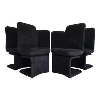 1990s Black Cantilever Dining Chairs by Carson's - Set of 6 For Sale