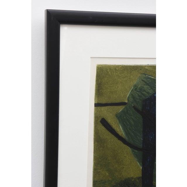 Surrealist Carborundum Collagraph by Henri Goetz, Paris 1960s For Sale In West Palm - Image 6 of 9
