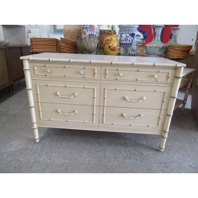 Chippendale Palm Beach Faux Bamboo Double Dresser For Sale In West Palm - Image 6 of 7