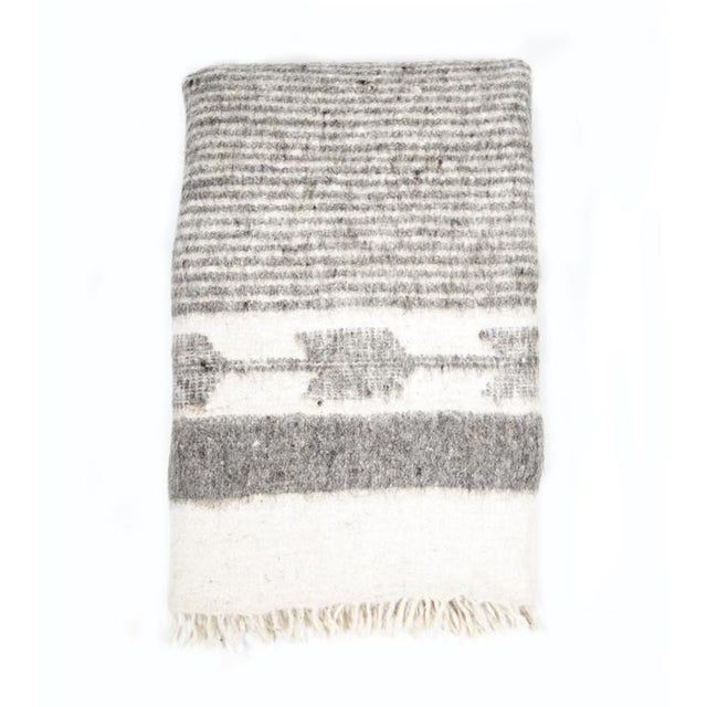 Grey & White Wool Blanket - Image 2 of 6