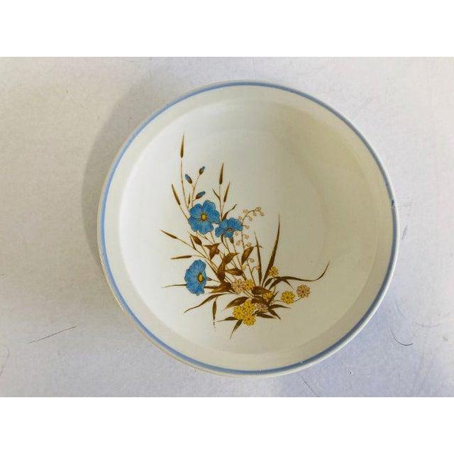 "80's-90's Vintage Set of 4 Ming Pao MIP2 Floral Design Dessert Plates, in excellent condition. 7.25""D"