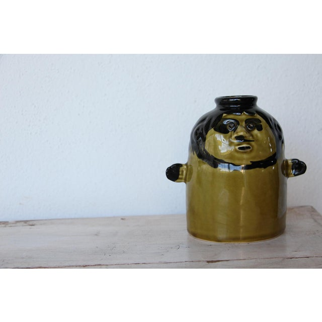 Brown French Zoomorphic Glazed Earthenware Vase For Sale - Image 8 of 10