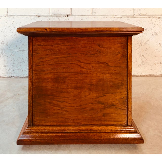 Black 1970s Drexel Furniture Mahogany End Table For Sale - Image 8 of 10