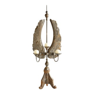 Tall Distressed Candle Holder For Sale
