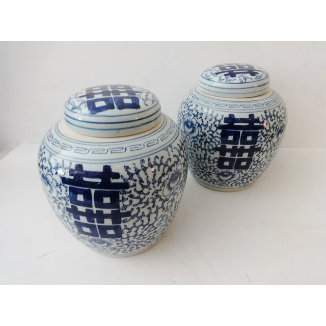 Double-Happiness Ginger Jars - A Pair For Sale - Image 5 of 5