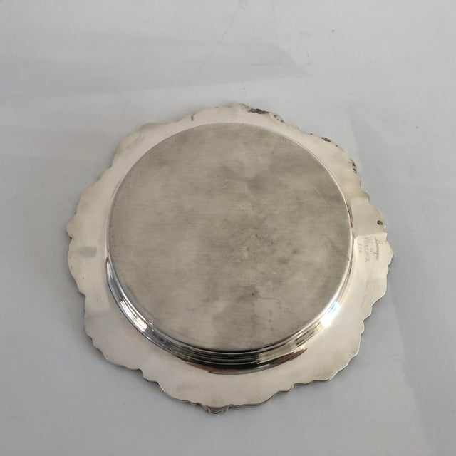 """Wallace Silversmiths Vintage Silver Plate """"Baroque by Wallace """" Wine Coaster For Sale - Image 4 of 7"""