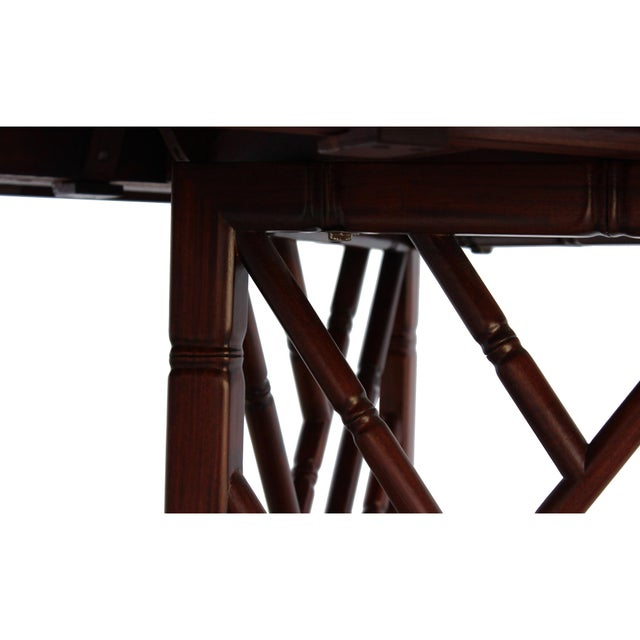 Chinese Oriental Brown Rectangular Writing Desk Dining Table For Sale In San Francisco - Image 6 of 10