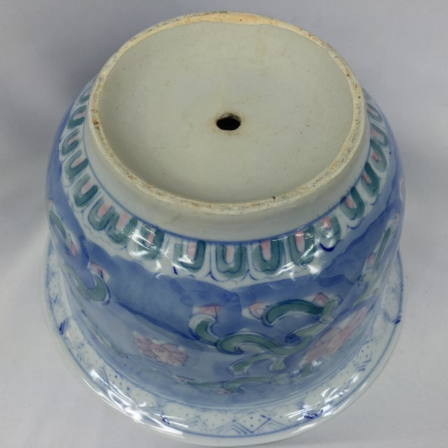 Vintage Chinoiserie Porcelain Garden Planter Pot - Image 7 of 9