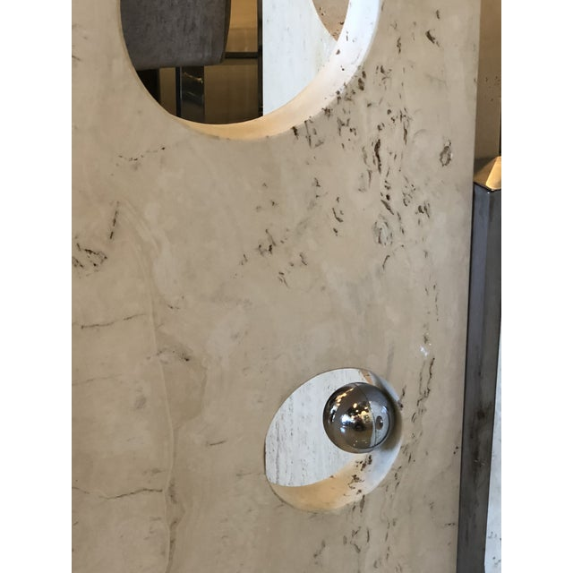 Vintage Modern Marble and Chrome Center or Dining Table For Sale - Image 11 of 14