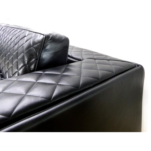 Embroidered Leather Sofa From Zanaboni, Italy For Sale In Miami - Image 6 of 8