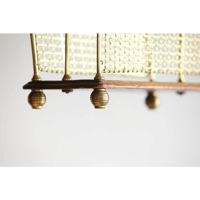Metal 19th Century Aesthetic Movement Woven Brass Canterbury For Sale - Image 7 of 8