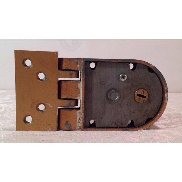 Mid-Century Modern Thumb Latch Lock Deadbolt For Sale - Image 9 of 9