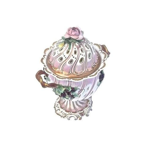 Antique Porcelain Potpourri Compote - Image 2 of 4