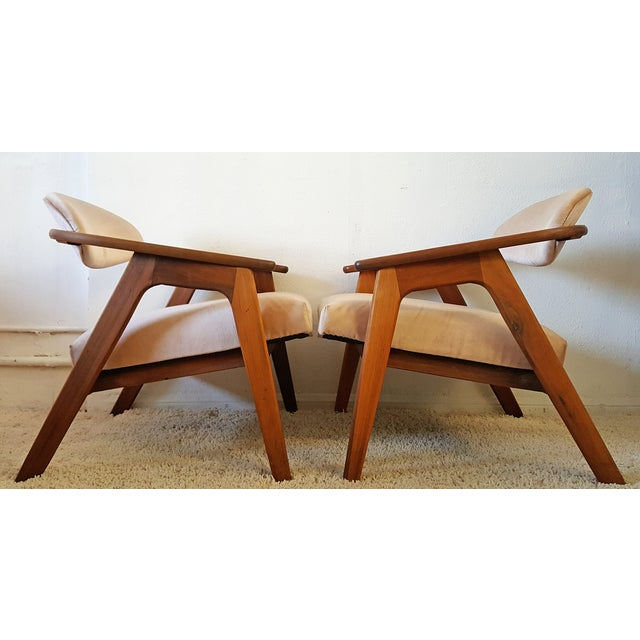 Adrian Pearsall Craft Captain Chairs - Pair - Image 5 of 8