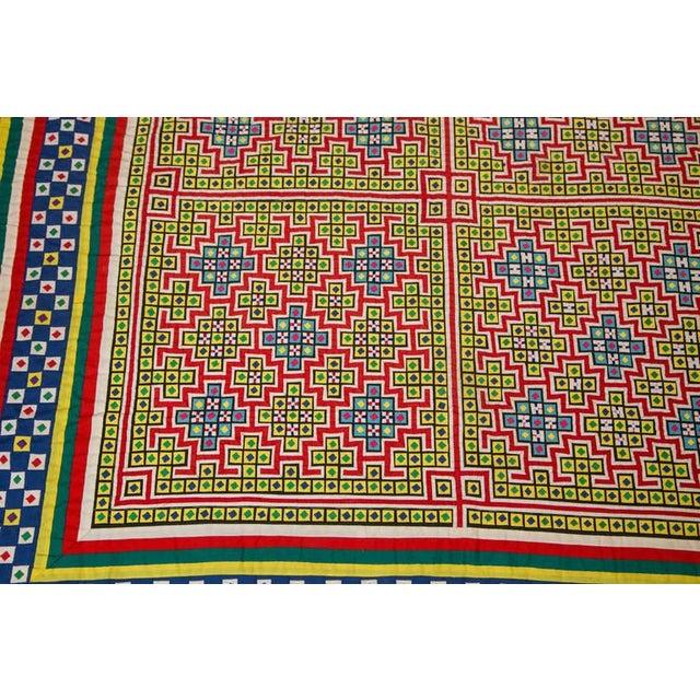 Handwoven Vietnamese Quilt - Image 3 of 4