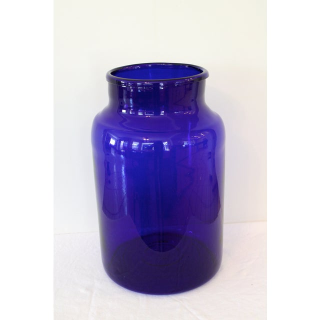 "European Cobalt Glass Pickling Jar 17"" - Image 2 of 5"