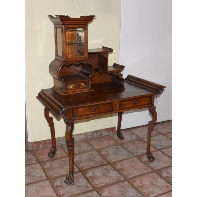 Antique French/Japanese Secretaire Attributed to Gabriel Verdoit, Etagere Desk/Console For Sale - Image 9 of 9