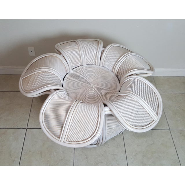 Gabriella Crespi Attributed Sculptural Flower Dining Table For Sale - Image 6 of 9