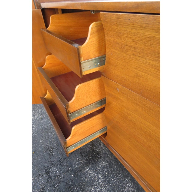 Mid 20th Century Mid Century Modern Long Dresser Sideboard Tv Media Console 2714 For Sale - Image 5 of 11