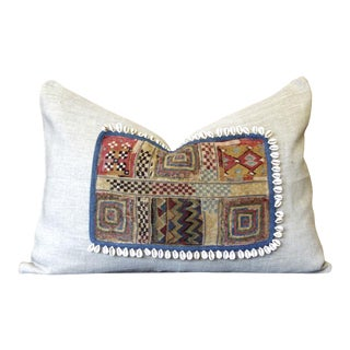 Aadiv Jumlo Shell Embellished Pillow For Sale