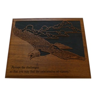 Mid-Century Inspirational Eagle Plaque