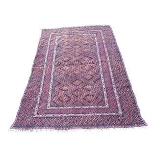 1970s Vintage Turkmen Afghan Baluch Rug - 4′4″ × 6′3″ For Sale