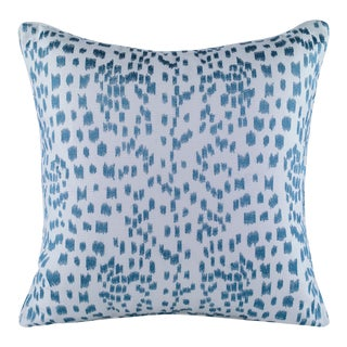 Curated Kravet Les Touches Embroidered Pillow - Teal For Sale