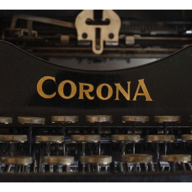 Metal 1912 Corona Portable Folding Typewriter For Sale - Image 7 of 9