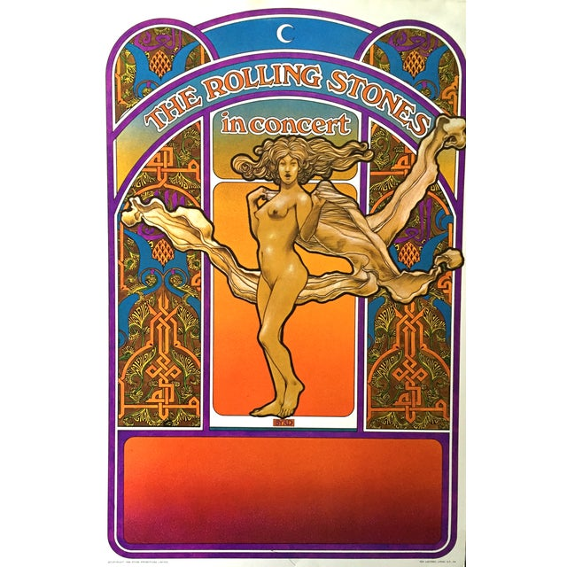 Rolling Stones 1969 Tour Original Vintage Poster - Image 1 of 5
