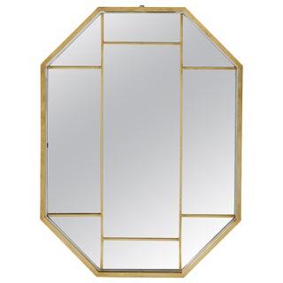 Romeo Rega Brass Octagonal Mirror For Sale