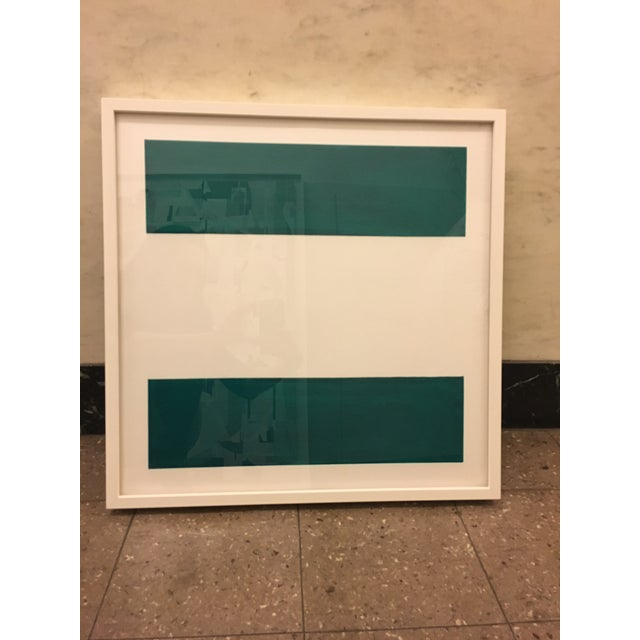 "Emerald Green ""Equal Signs"" Print - Image 2 of 3"