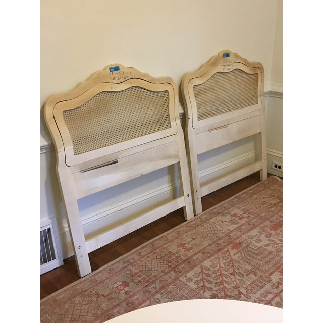 Gold Drexel Heritage French Provincial Cane Twin Headboards - a Pair For Sale - Image 8 of 9