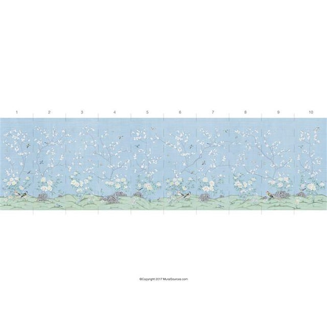 "Chinoiserie Casa Cosima Ines Wallpaper Mural - 2 Panels 72"" W X 108"" H For Sale - Image 3 of 5"