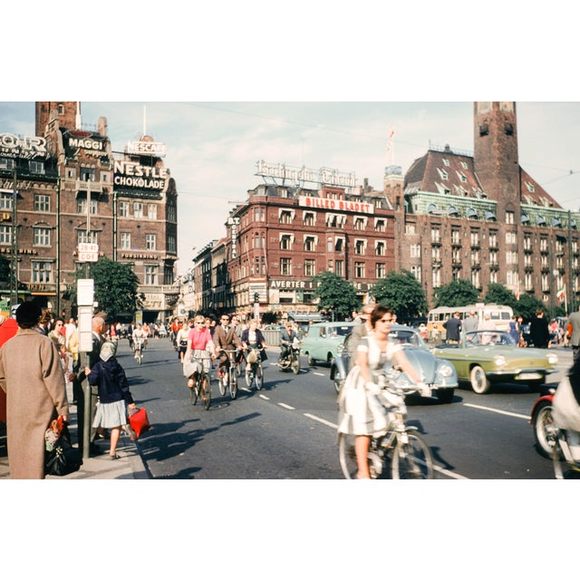 Limited Edition 1960s Copenhagen Bicycles Vintage Film Photograph Print For Sale