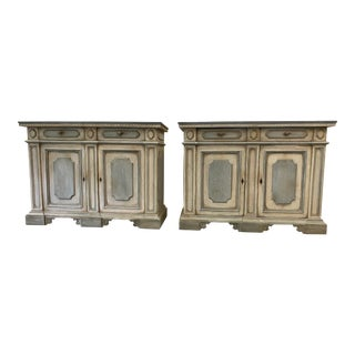Italian Painted Buffet Cabinets - a Pair For Sale