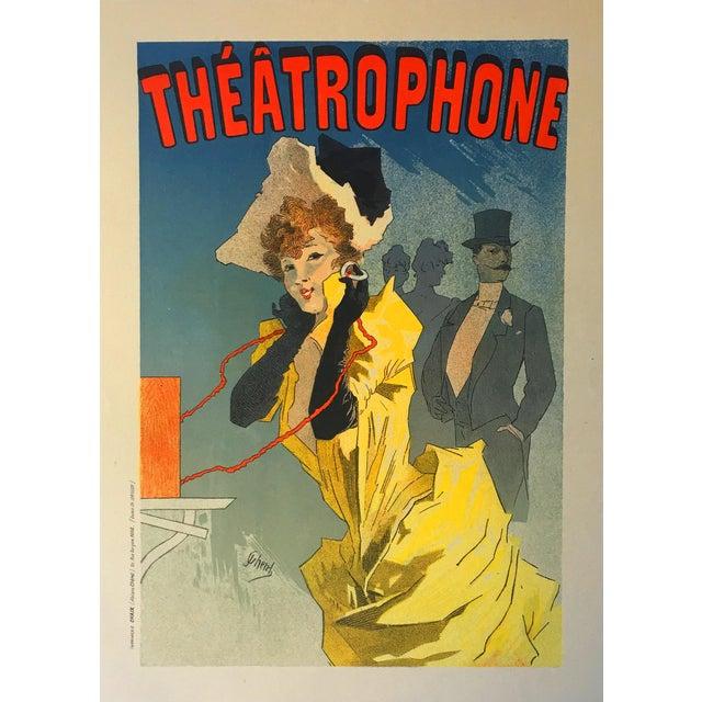 Jules Cheret Theatrophone Antique Maitre De l'Affiche Stone Lithograph -  Image 2 ...