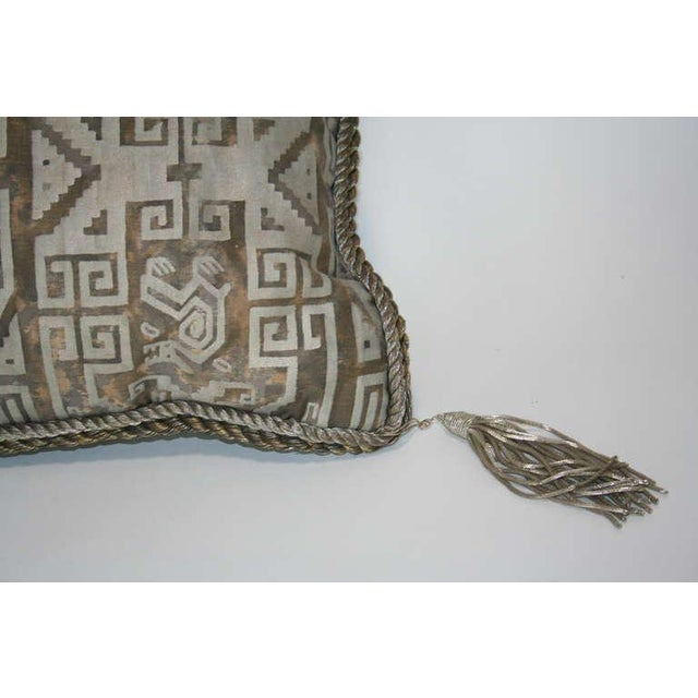 Early 20th Century Vintage Fortuny Pillow For Sale - Image 5 of 7