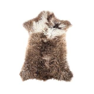 Long Wool Sheepskin Pelt, Handmade Rug