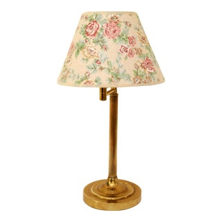 Vintage Brass Swing Arm Desk Lamp with Shade