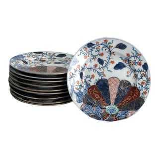 Late 19th Century Imari Style Plates, France Circa 1880 - Set of 10 For Sale